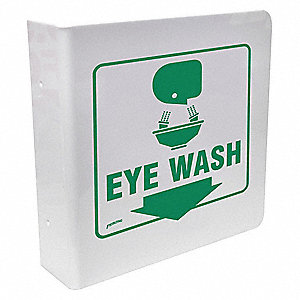 Eye Wash Sign,8 x 8In,GRN/WHT,Eye Wash