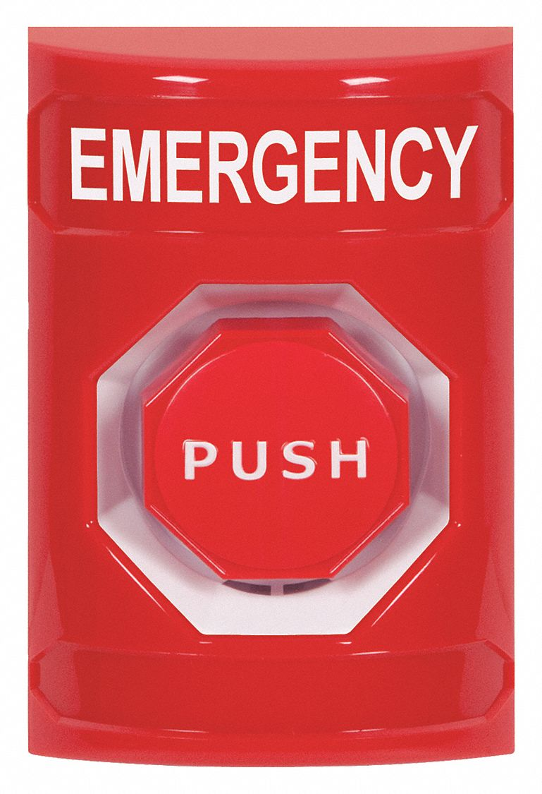 Safety Technology International Emergency Push Button Red