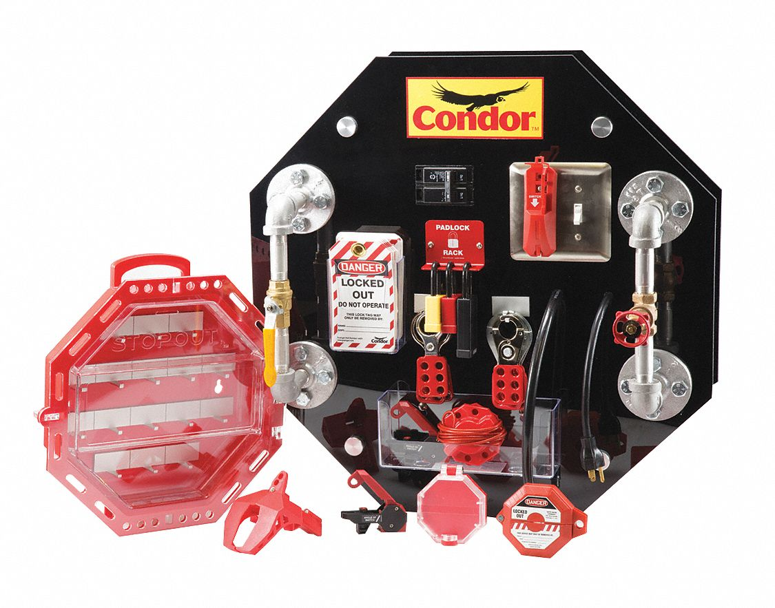 Condor Lockout Tagout Demo Training Board Kit For Use