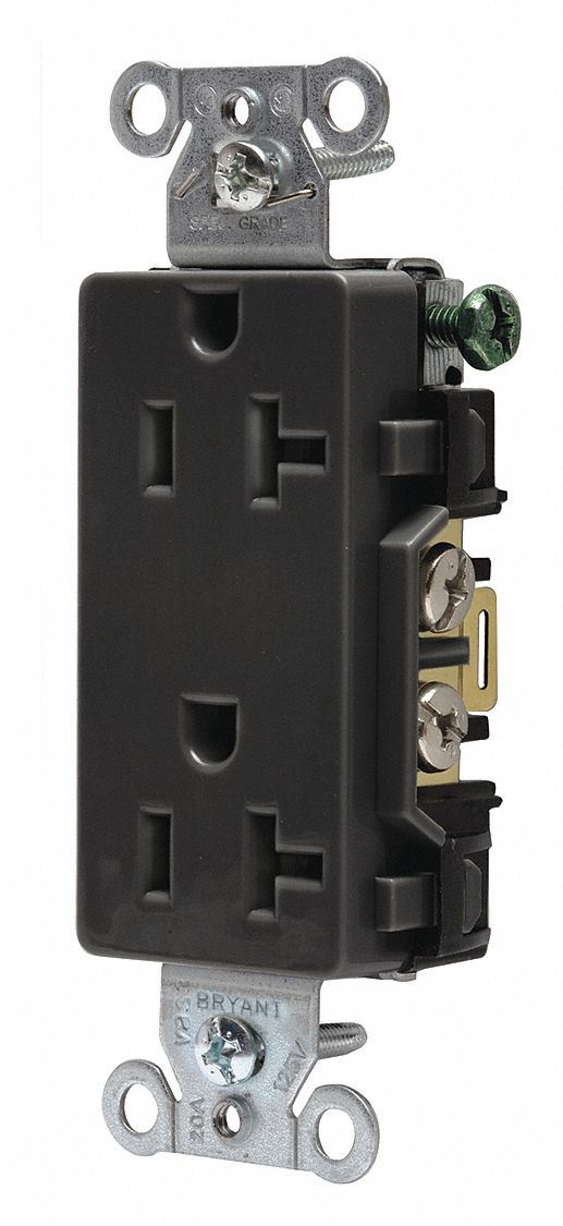 BRYANT 20A Commercial Environments Receptacle, Black ...
