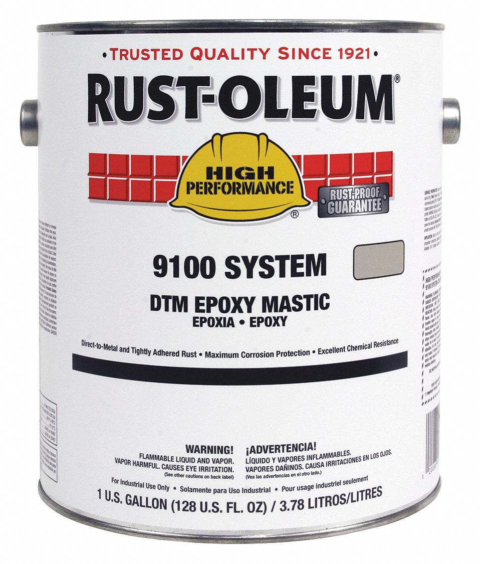 rust oleum 9100 epoxy mastic coating white 1g 5a276 9192402 grainger. Black Bedroom Furniture Sets. Home Design Ideas