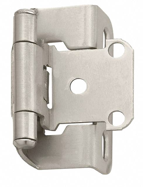 Amerock Spring Hinge With Holes Satin Nickel Finish