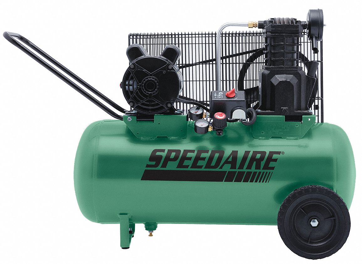 Speedaire Portable Electric Air Compressor 2 0 Hp 52ym09