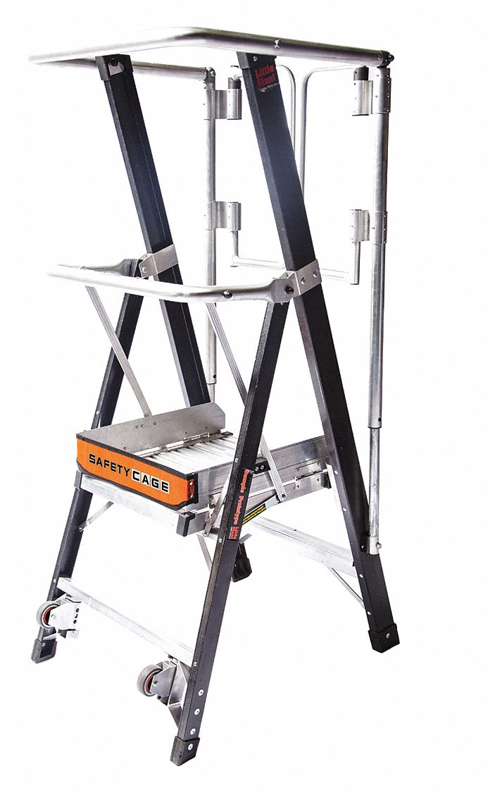 Little Giant Fiberglass Platform Stepladder 5 Ft 6