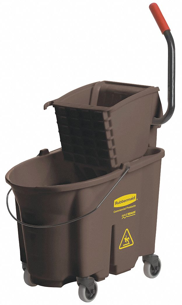 Rubbermaid Brown Mop Bucket And Wringer 35 Qt 53gx75