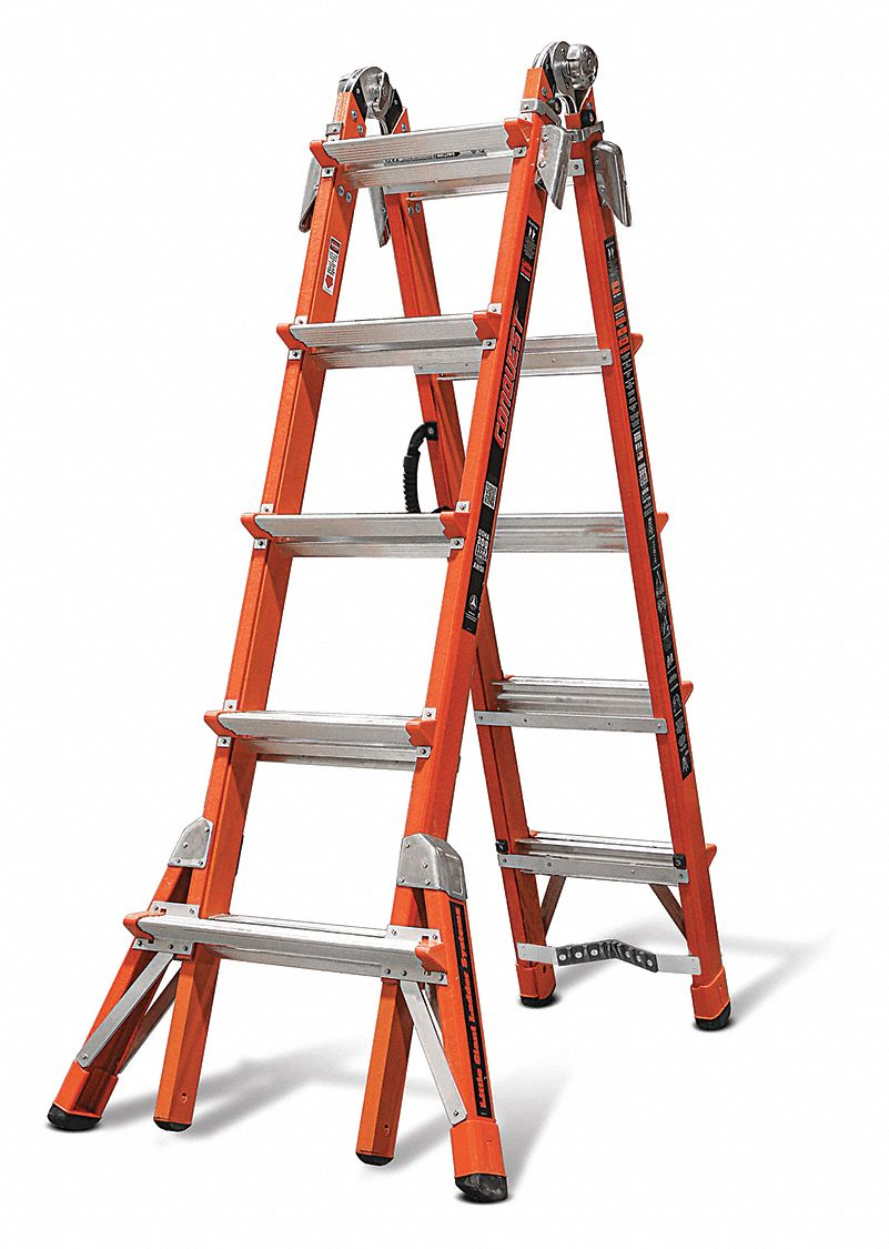 Little Giant 11 Ft Fiberglass Multipurpose Ladder 300 Lb