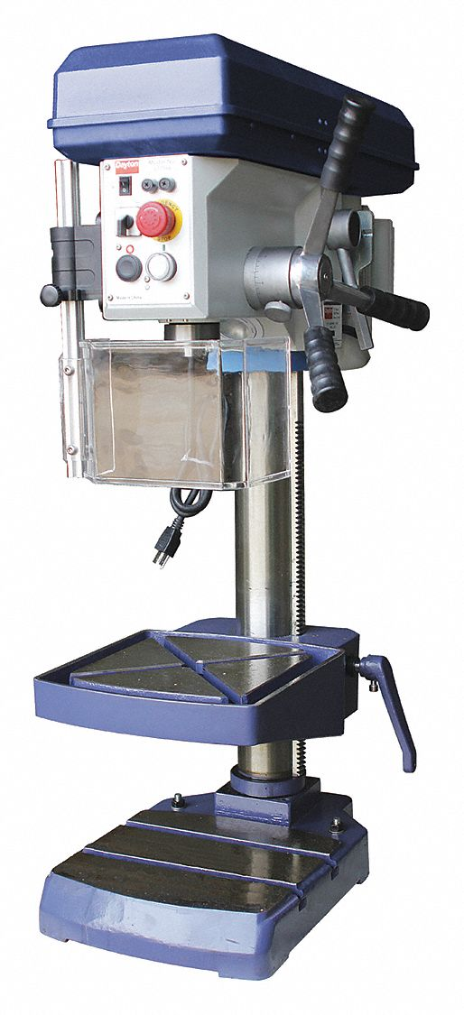 Dayton 1 Motor Hp Bench Drill Press Belt Drive Type 13 Quot Swing 120 Voltage 53ug96 53ug96