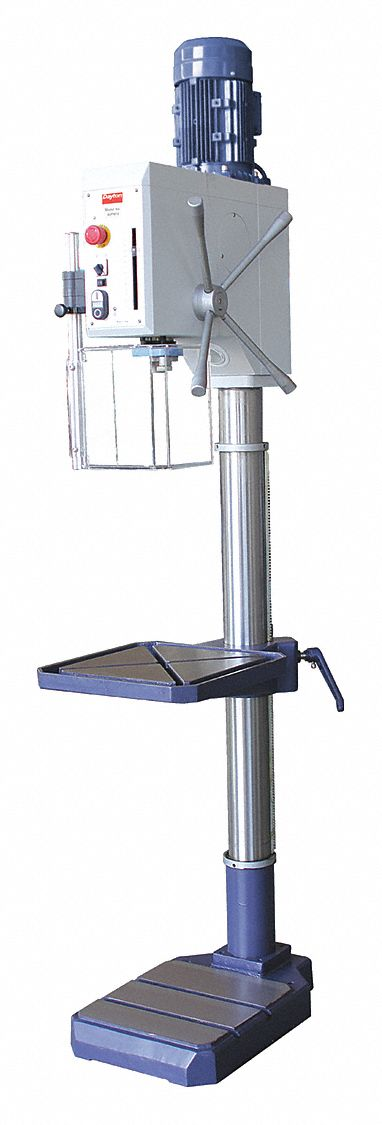 dayton 1 1 2 to 2 motor hp floor drill press geared head. Black Bedroom Furniture Sets. Home Design Ideas