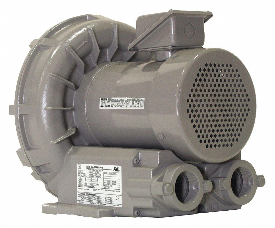Miniature Regenerative Blowers : Fuji electric regenerative blower cfm v wc