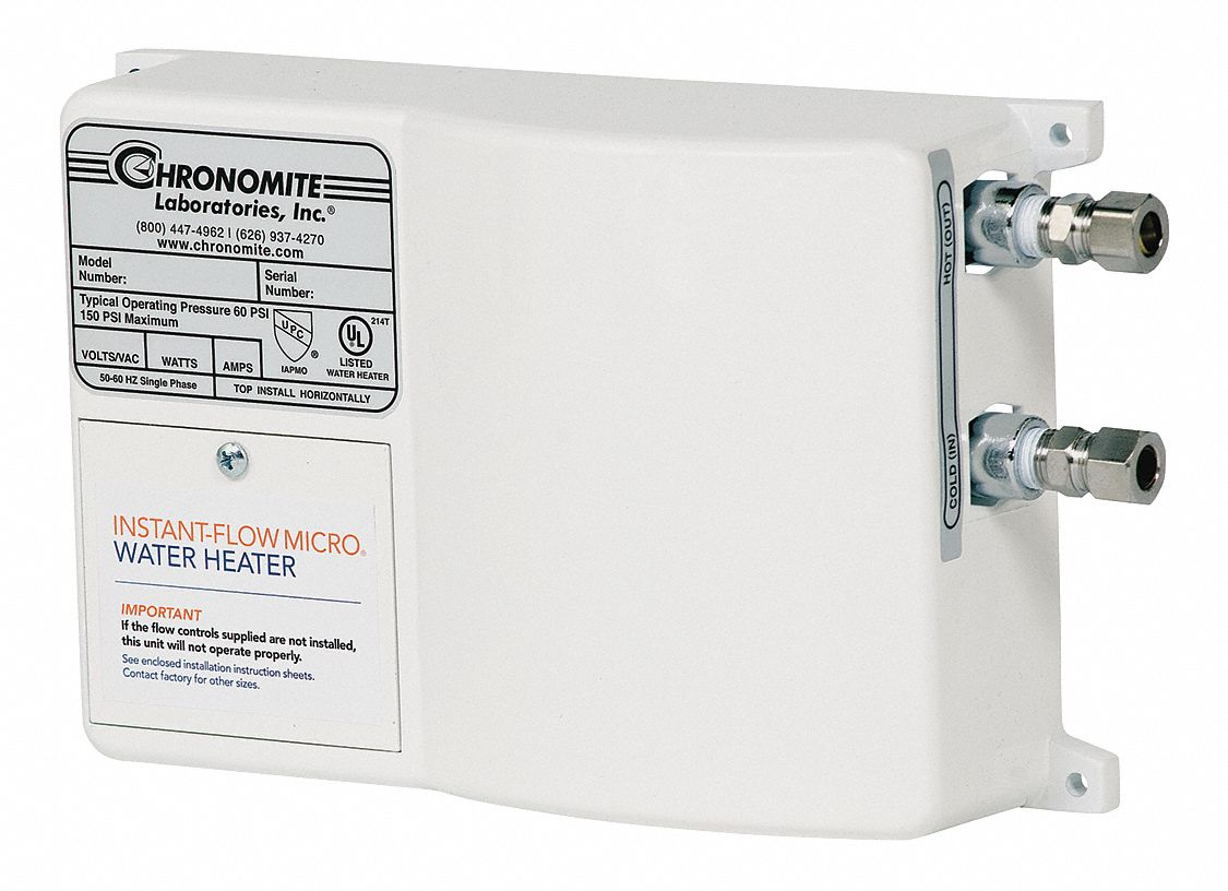 Chronomite Labs 240v Undersink Electric Tankless Water