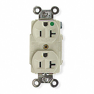 Receptacle, 20 Amps, 125VAC Voltage, NEMA Configuration: 5-20R, Number of Poles: 2