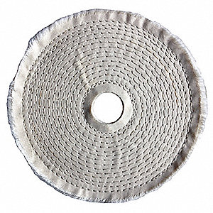 Buffing Wheel,Spiral Sewn,6 In Dia.