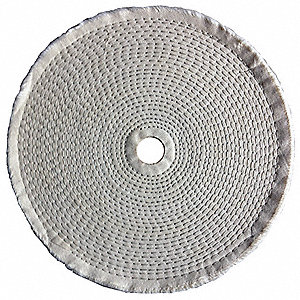 Buffing Wheel,Spiral Sewn,10 In Dia.