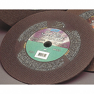 "14"" Abrasive Cut-Off Wheel, 0.125"" Thickness, 20mm Arbor Hole"