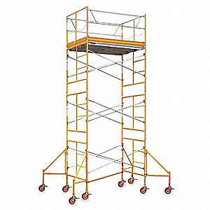 Scaffold Tower, Steel, Aluminum/Plywood, Steel/Poly, 2 to 16 ft. Platform Height