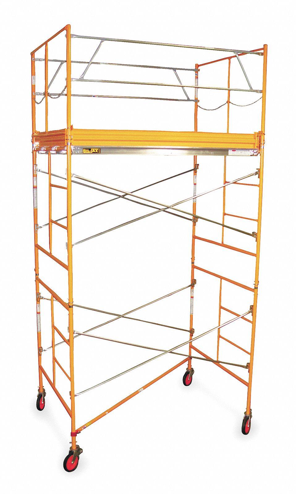 Bil Jax Scaffolding Parts : Bil jax scaffold tower ft h steel ab st ru