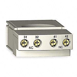 Auxiliary Contact, 5 Amps, Auxiliary Contact Type, Plug In Mounting