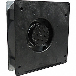 "Square Flatpack Axial Fan, 7"" Width, 7"" Height, 1-9/16"" Fan Dia., 115VAC Voltage"