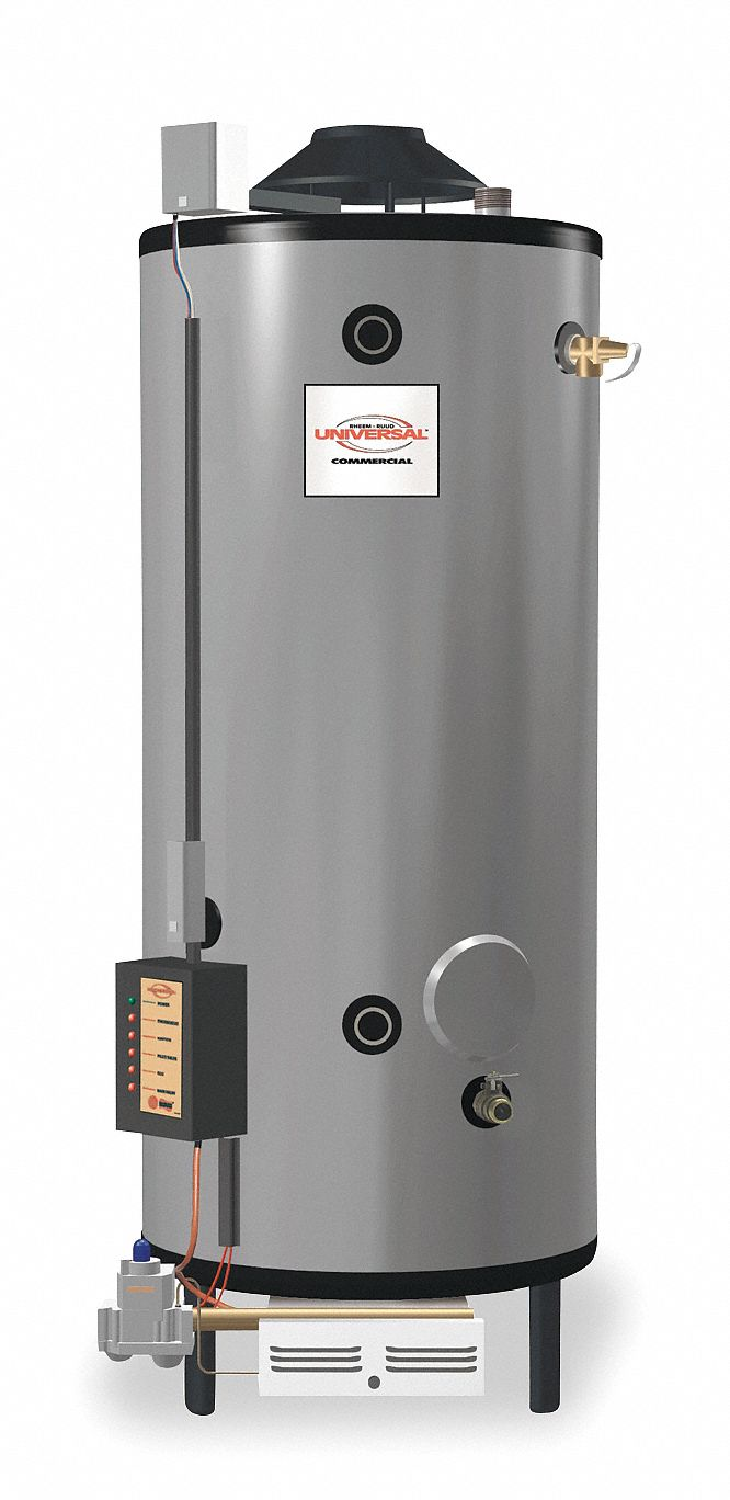 Rheem Ruud Commercial Gas Water Heater 85 0 Gal Tank