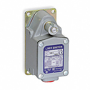 Severe Duty Limit Switch, 600VAC/DC Voltage Rating, 20 Amps, Side Actuator Location