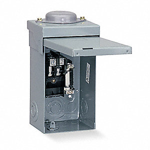 Load Center, Main Lug,70 Amps,120/240VAC Voltage,Number of Spaces: 2