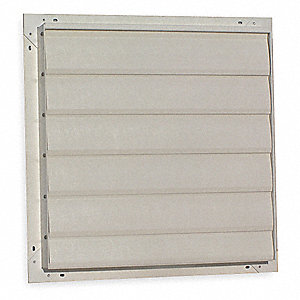 "10"" Backdraft Damper / Wall Shutter, 10-1/2"" x 10-1/2"" Opening Required"