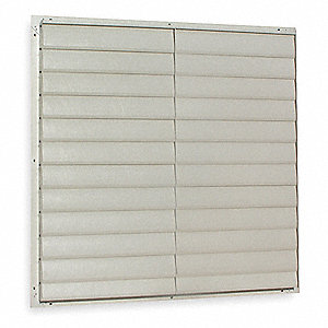 "60"" Backdraft Damper / Wall Shutter, 60-1/2"" x 60-1/2"" Opening Required"