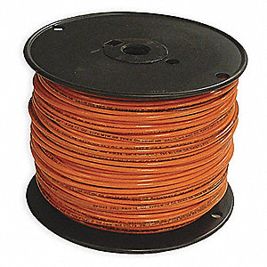 Building Wire,THHN,12 AWG,Orange,500ft
