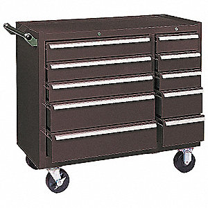 """KENNEDY Brown Rolling Cabinet, 35"""" H X 39-3/8"""" W X 18"""" D ..."""