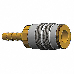 Barb to Indust. Coupler,Barb,1/4,Steel