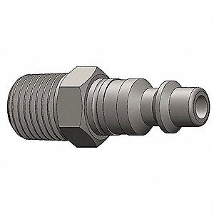 Male to Industrial Plug,(M)NPT,3/8,Steel