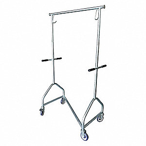 Garment Rack,Collapsible,56 to 73 In H