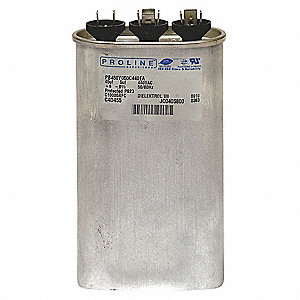 Oval Motor Dual Run Capacitor,10/10 Microfarad Rating,440VAC Voltage