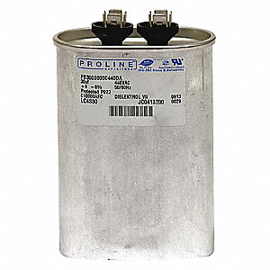 Oval Motor Run Capacitor,40 Microfarad Rating,440VAC Voltage