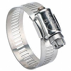 Worm Gear Hose Clamp, Interlocked Clamp Type, SAE Number 6
