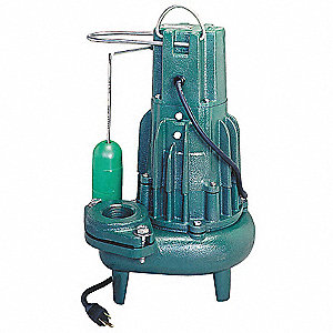 Submersible Sewage Pump,1HP,230V,35 ft.