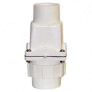 "2"" Check Valve with Union, PVC, Socket Connection Type"