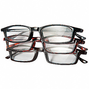 Reading Glasses,+1.25,Clear,Acrylic,PK3