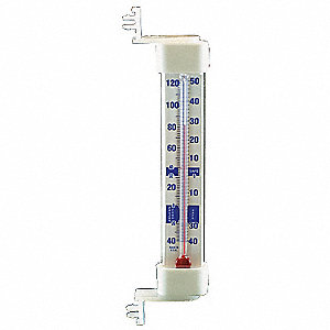 Thermometer,Vert,Snap,-40 to 120F,NSF