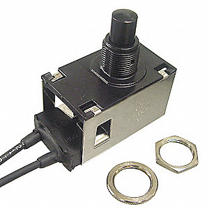 SPDT Weatherproof Switch, Momentary with Wire Lead Terminals