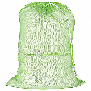 Laundry Bag,Green,Mesh