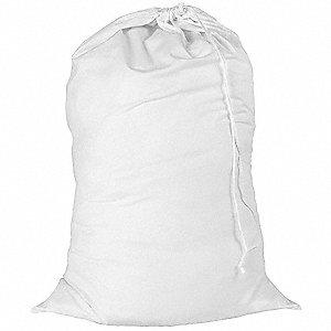 Laundry Bag,White,Cotton