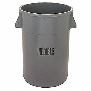 44 gal. Gray, LLDPE Utility Container