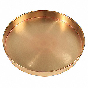 Sieve Bottom Pan,Brass,8 In Dia,1 In