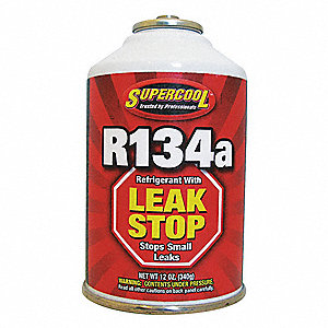 Refrigerant,134A Plus Stop Leak,12 oz.