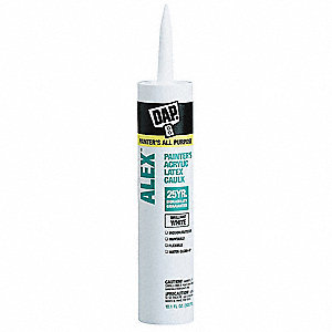 Painter s Caulk White, Sealant Application: Window and Door, 10.1 oz. Size, Tube
