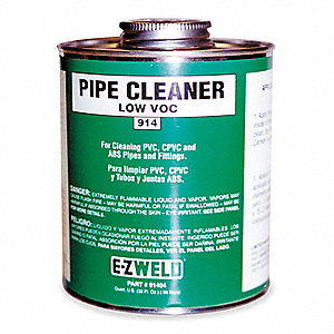 Cleaner,8 Oz,Clear,PVC,CPVC,ABS