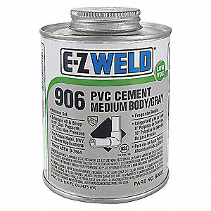 Cement,8 Oz,Gray,PVC,Medium Body Gray