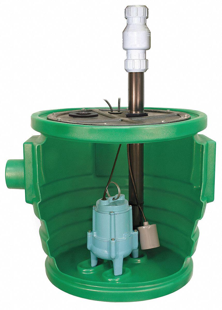 Little Giant 4 10 Hp Simplex Sewage System 115 Voltage
