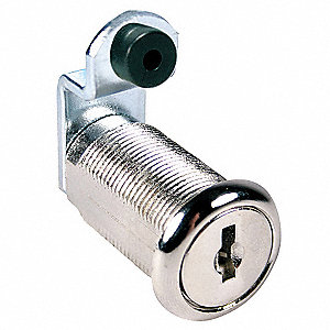 Disc Tumbler Cam Lock,Nickel,Key C205A